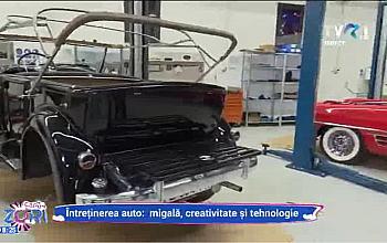 """TVR 1 despre atelierul Tiriac Collection: """"Viata noua pentru limuzine de epoca"""""""
